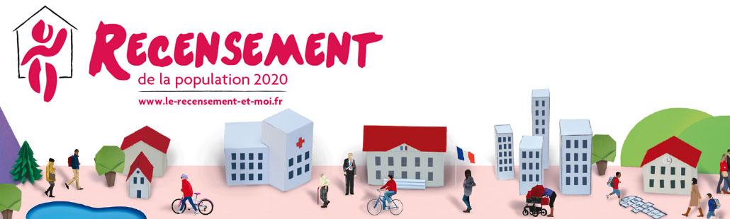 Recensement de la population 2020 – Du 16 Janvier au 15 Février 2020