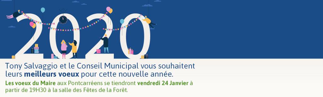 Les voeux du Maire aux Pontcarréens – vendredi 24 Janvier à partir de 19H30