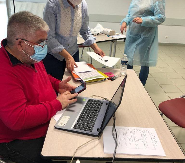 Mise en place d'un centre de vaccination temporaire