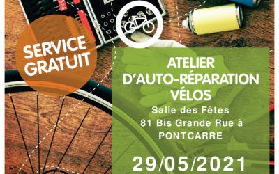 Auto-réparation de vélos : RDV le 29 Mai (changement d'horaire)